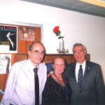 Dr Alkis Raftis, CID President (to the right), Comtesse Francoise de Caulaincourt, President of the Paris Section CID and Dr Constantin Kontogiannis, Vice-President, Paris Section CID, in the CID Headquarters, Paris, France